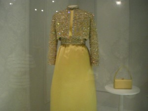 Nancy Reagen's gown.
