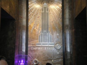 Entrance to empire state building.