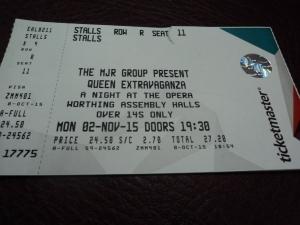 My ticket..